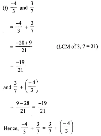 ML Aggarwal Class 8 Solutions for ICSE Maths Chapter 1 Rational Numbers Ex 1.1 7