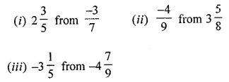 ML Aggarwal Class 8 Solutions for ICSE Maths Chapter 1 Rational Numbers Ex 1.2 1
