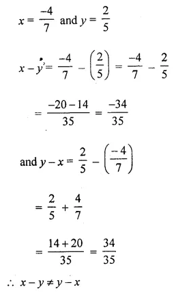 ML Aggarwal Class 8 Solutions for ICSE Maths Chapter 1 Rational Numbers Ex 1.2 10