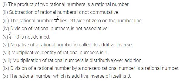 ML Aggarwal Class 8 Solutions for ICSE Maths Chapter 1 Rational Numbers Objective Type Questions 1