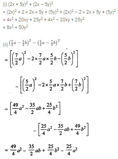 ML Aggarwal Class 8 Solutions for ICSE Maths Chapter 10 Algebraic Expressions and Identities Ex 10.5 13