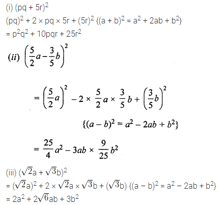 ML Aggarwal Class 8 Solutions for ICSE Maths Chapter 10 Algebraic Expressions and Identities Ex 10.5 8