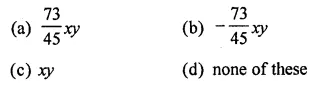 ML Aggarwal Class 8 Solutions for ICSE Maths Chapter 10 Algebraic Expressions and Identities Objective Type Questions 9
