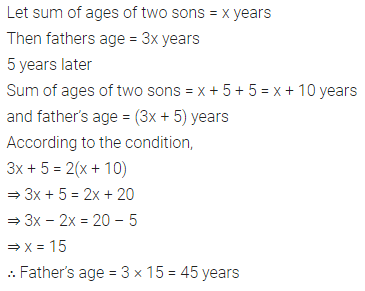 ML Aggarwal Class 8 Solutions for ICSE Maths Chapter 12 Linear Equations and Inequalities in one Variable Check Your Progress 11