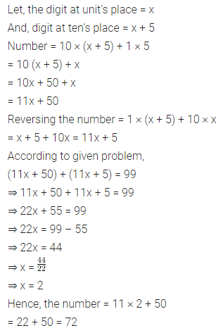 ML Aggarwal Class 8 Solutions for ICSE Maths Chapter 12 Linear Equations and Inequalities in one Variable Check Your Progress 13