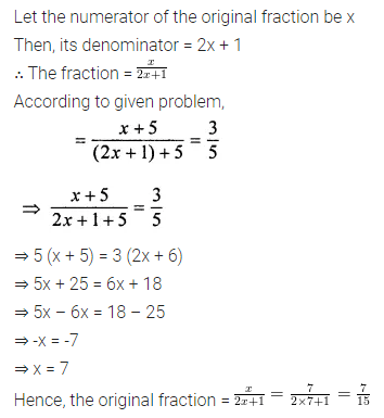 ML Aggarwal Class 8 Solutions for ICSE Maths Chapter 12 Linear Equations and Inequalities in one Variable Ex 12.2 8