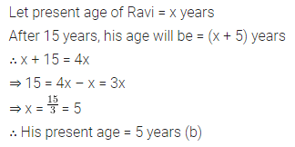 ML Aggarwal Class 8 Solutions for ICSE Maths Chapter 12 Linear Equations and Inequalities in one Variable Objective Type Questions 12