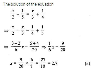 ML Aggarwal Class 8 Solutions for ICSE Maths Chapter 12 Linear Equations and Inequalities in one Variable Objective Type Questions 7