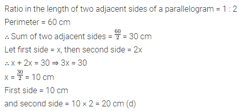ML Aggarwal Class 8 Solutions for ICSE Maths Chapter 13 Understanding Quadrilaterals Objective Type Questions 19
