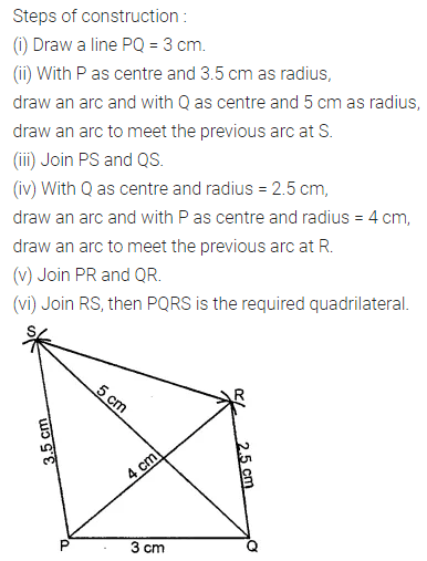 ML Aggarwal Class 8 Solutions for ICSE Maths Chapter 14 Constructions of Quadrilaterals Check Your Progress 4