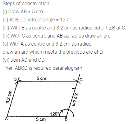 ML Aggarwal Class 8 Solutions for ICSE Maths Chapter 14 Constructions of Quadrilaterals Ex 14.2 1