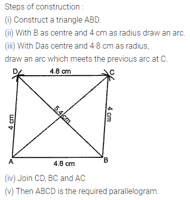 ML Aggarwal Class 8 Solutions for ICSE Maths Chapter 14 Constructions of Quadrilaterals Ex 14.2 2