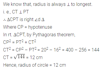 ML Aggarwal Class 8 Solutions for ICSE Maths Chapter 15 Circle 5