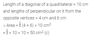 ML Aggarwal Class 8 Solutions for ICSE Maths Chapter 18 Mensuration Objective Type Questions 10