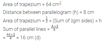 ML Aggarwal Class 8 Solutions for ICSE Maths Chapter 18 Mensuration Objective Type Questions 7