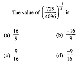ML Aggarwal Class 8 Solutions for ICSE Maths Chapter 2 Exponents and Powers Objective Type Questions 8
