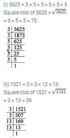 ML Aggarwal Class 8 Solutions for ICSE Maths Chapter 3 Squares and Square Roots Check Your Progress 10