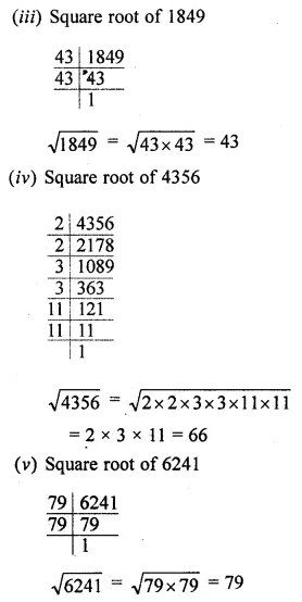ML Aggarwal Class 8 Solutions for ICSE Maths Chapter 3 Squares and Square Roots Ex 3.3 5