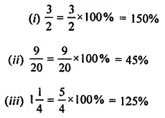ML Aggarwal Class 8 Solutions for ICSE Maths Chapter 7 Percentage Ex 7.1 3