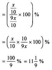 ML Aggarwal Class 8 Solutions for ICSE Maths Chapter 7 Percentage Ex 7.2 8