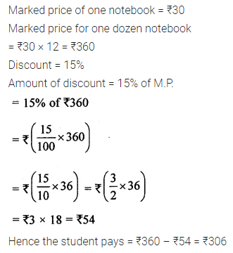 ML Aggarwal Class 8 Solutions for ICSE Maths Chapter 7 Percentage Ex 7.3 4