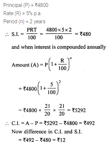 ML Aggarwal Class 8 Solutions for ICSE Maths Chapter 8 Simple and Compound Interest Ex 8.3 3