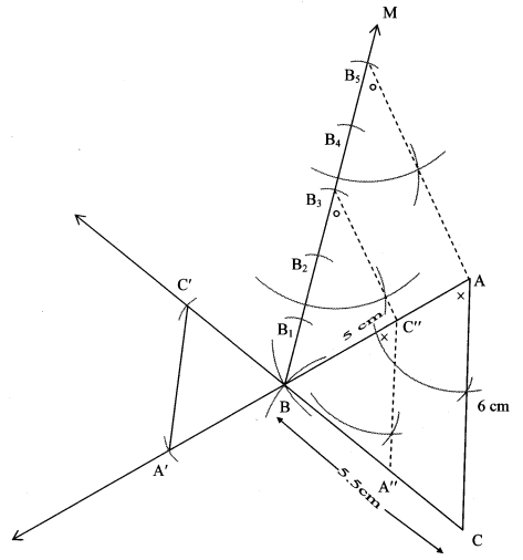 Maharashtra Board Class 10 Maths Solutions Chapter 4 Geometric Constructions Practice Set 4.1
