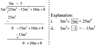 Maharashtra Board Class 8 Maths Solutions Chapter 10 Division of Polynomials Practice Set 10.1 10