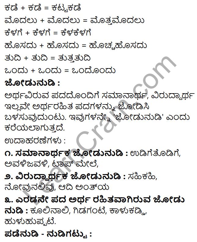 Tili Kannada Text Book Class 8 Vyakarana Dvirukti - Jodi Nudi Nudigattugalu 2