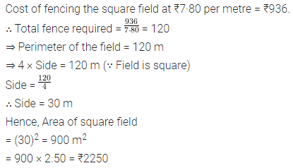 ML Aggarwal Class 8 Solutions for ICSE Maths Chapter 18 Mensuration Check Your Progress 4