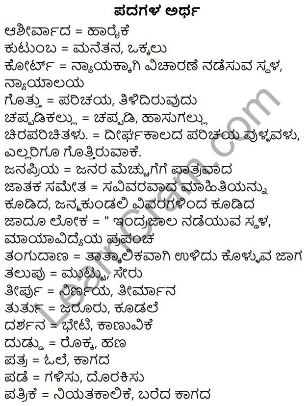 Siri Kannada Text Book Class 5 Solutions Gadya Chapter 7 Mallajjiya Malige 1