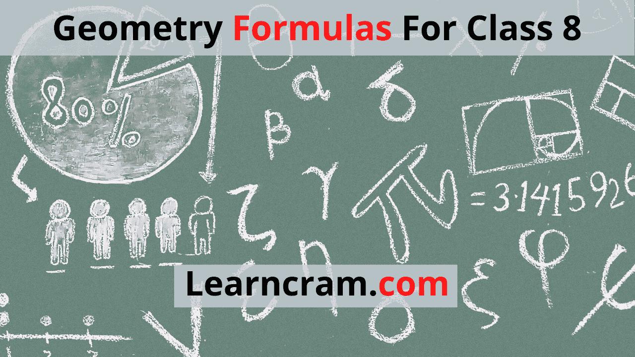 Geometry Formulas For Class 8