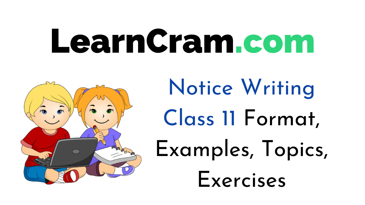 Notice Writing for Class 11