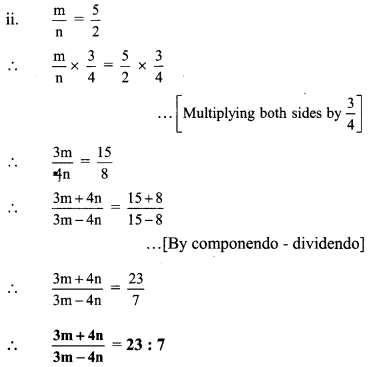 Maharashtra Board Class 9 Maths Solutions Chapter 4 Ratio and Proportion Practice Set 4.4 5