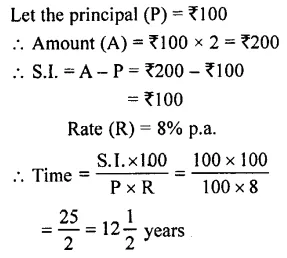 Selina Concise Mathematics Class 7 ICSE Solutions Chapter 10 Simple Interest 8