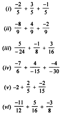Selina Concise Mathematics Class 7 ICSE Solutions Chapter 2 Rational Numbers Ex 2C Q3