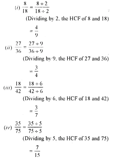 Selina Concise Mathematics Class 7 ICSE Solutions Chapter 3 Fractions (Including Problems) Ex 3A 4