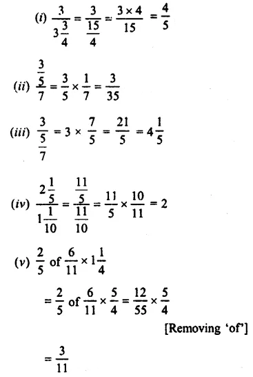 Selina Concise Mathematics Class 7 ICSE Solutions Chapter 3 Fractions (Including Problems) Ex 3C 40