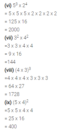 Selina Concise Mathematics Class 7 ICSE Solutions Chapter 5 Exponents (Including Laws of Exponents) Ex 5A 3