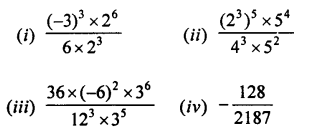 Selina Concise Mathematics Class 7 ICSE Solutions Chapter 5 Exponents (Including Laws of Exponents) Ex 5B Q4