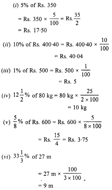 Selina Concise Mathematics Class 7 ICSE Solutions Chapter 8 Percent and Percentage Ex 8A 5