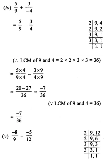 Selina Concise Mathematics Class 8 ICSE Solutions Chapter 1 Rational Numbers EX 1A 10