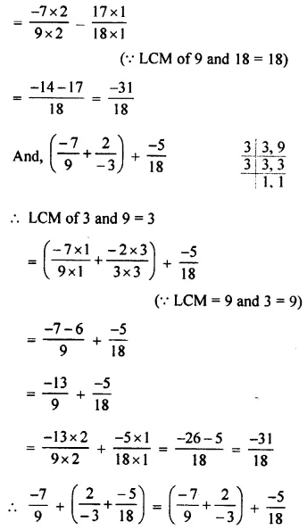 Selina Concise Mathematics Class 8 ICSE Solutions Chapter 1 Rational Numbers EX 1A 32