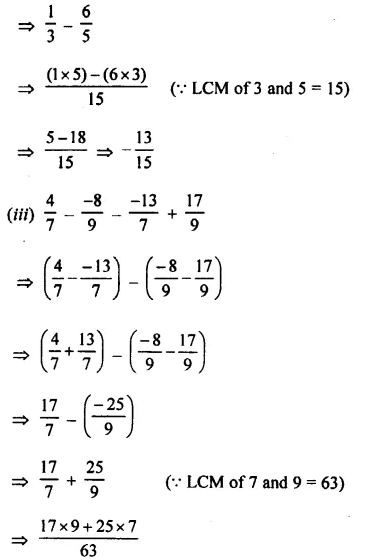 Selina Concise Mathematics Class 8 ICSE Solutions Chapter 1 Rational Numbers EX 1B 61