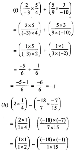 Selina Concise Mathematics Class 8 ICSE Solutions Chapter 1 Rational Numbers EX 1C 70