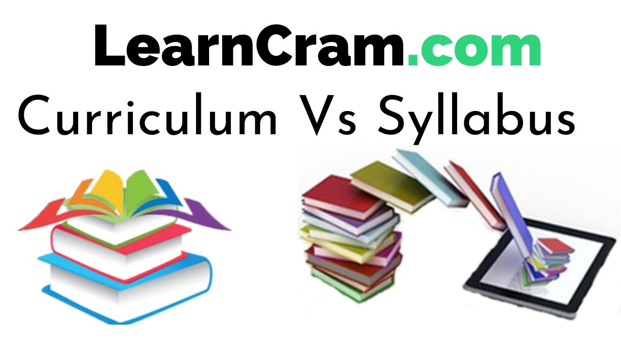 Curriculum Vs Syllabus