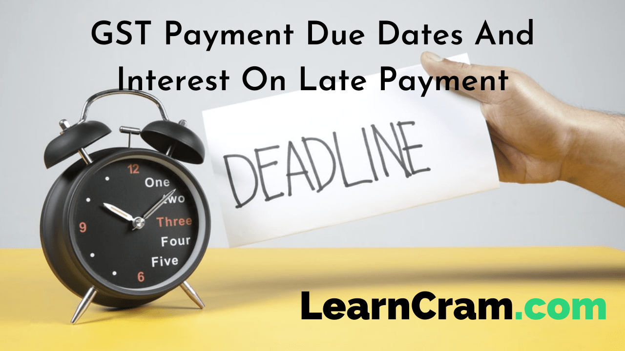 GST Payment Due Dates And Interest On Late Payment