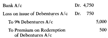 Issue & Redemption of Debentures – Corporate and Management Accounting MCQ 10