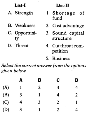 Business Policy and Formulation of Functional Strategy - Strategic Management MCQ 1