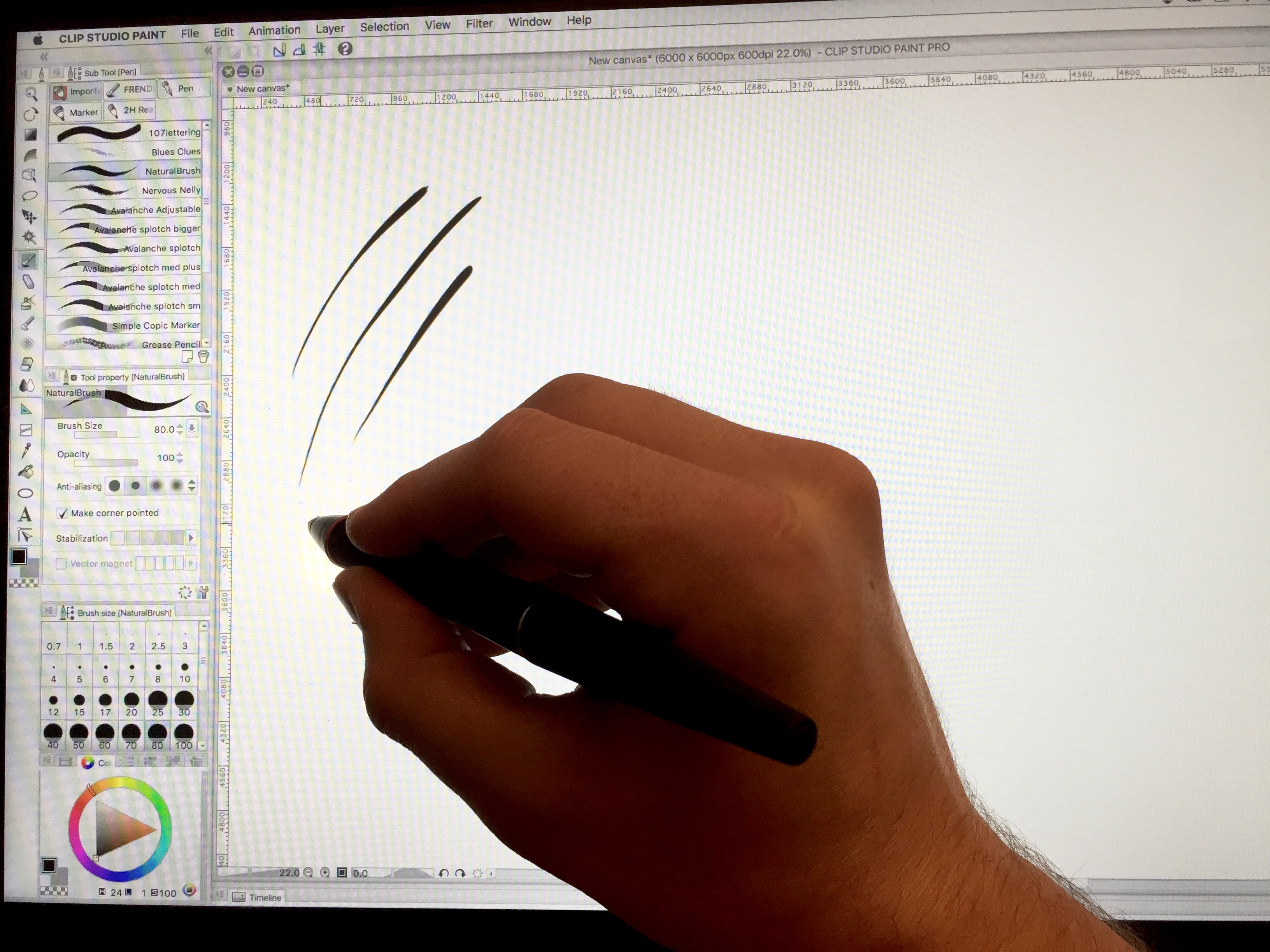 Start drawing in Clip Studio Paint
